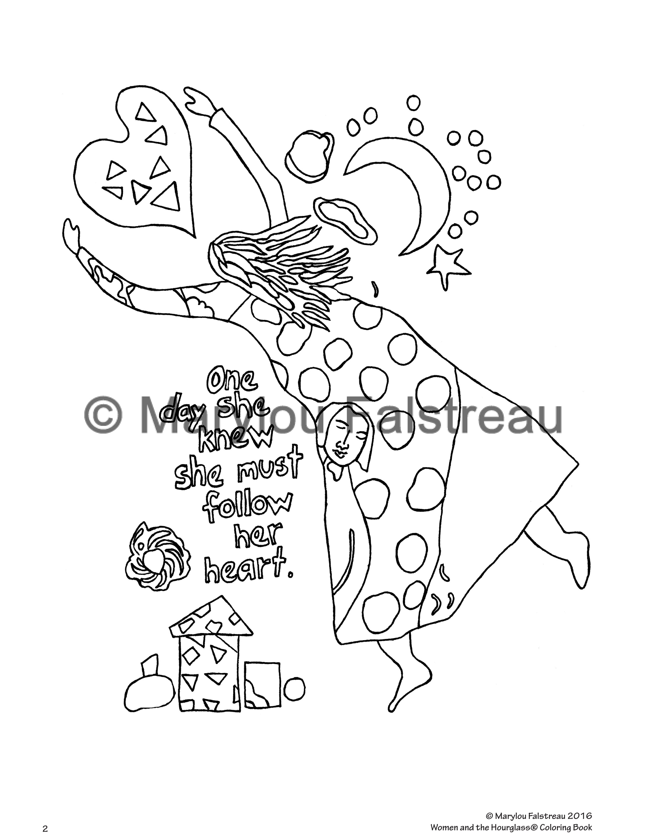 women and the hourglass coloring book marylou falstreau